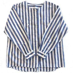 [JAG] Vintage Hong Kong Striped Cotton Tunic